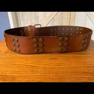 Express Accessories - Vintage express leather belt medium